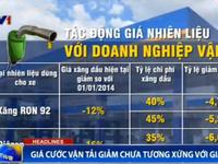 Giá xăng giảm 20%, DN vận tải chưa giảm giá cước