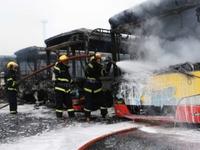Cháy lớn khiến gần 50 xe buýt bị thiêu rụi ở Mexico
