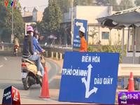 """Cao tốc TP.HCM - Long Thành - Dầu Giây: Biển chỉ dẫn bất hợp lý, hàng trăm xe """"lạc lối"""""""