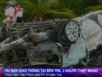 Bến Tre: Xe cấp cứu đụng xe máy khiến 2 người thiệt mạng