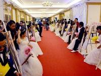 Xúc động lễ cưới tập thể của 40 cặp đôi khuyết tật