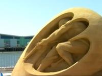 Độc đáo cuộc thi điêu khắc trên cát tại Mỹ