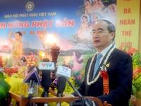 Đồng chí Nguyễn Thiện Nhân chúc mừng Đại lễ Phật đản 2015