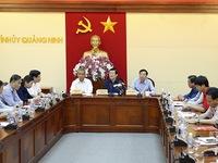 Chủ tịch nước kiểm tra công tác khắc phục mưa lũ tại Quảng Ninh