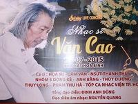 Sol vàng tưởng niệm 20 năm ngày mất của nhạc sĩ Văn Cao