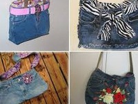 Độc đáo với túi xách tái chế từ quần jean cũ