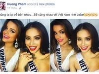 Trượt Top 15, Phạm Hương rủ Hoa hậu Dominican về Việt Nam