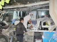 Bình Thuận: Hiện trường vụ hai xe khách đấu đầu