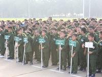 """Hơn 130 """"chiến sĩ nhí"""" xuất quân tham dự Học kỳ trong quân đội"""