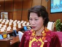 Tân Chủ tịch Quốc hội Nguyễn Thị Kim Ngân chia sẻ sau khi nhậm chức