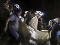 Hàng chục người thiệt mạng sau loạt vụ không kích tại Aleppo (Syria)
