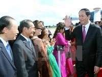 Chủ tịch nước gặp cộng đồng người Việt tại Pakse