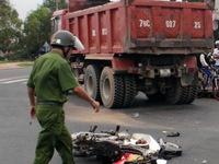 Bình Phước: Xe ben đâm thẳng vào xe máy khiến 2 người thương vong