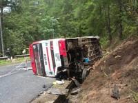 Tai nạn tại Lâm Đồng: Do xe khách đứt phanh, trượt đường đèo