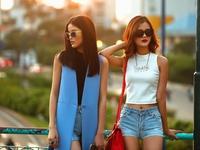 Chà Mi, Hương Ly Next Top Model khoe dáng chuẩn trong bộ ảnh streetstyle