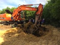 Đã khai quật khoảng 50 tấn bùn thải của Formosa ra khỏi rừng tràm