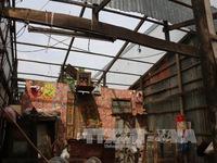 Lốc xoáy thổi tung hơn 300 mái nhà ở An Giang