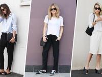 Trẻ trung với phong cách tối giản trong những ngày hè