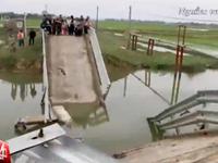 Sà lan đâm sập cầu bê tông tại Hà Tĩnh