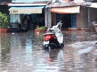 Mưa lớn gây ngập úng nhiều nơi ở Yên Bái
