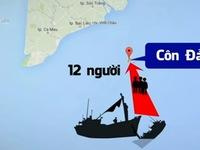 Tàu lạ đâm chìm tàu cá, 1 ngư dân mất tích