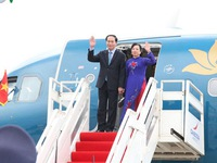 Lễ đón chính thức Chủ tịch nước thăm cấp Nhà nước Campuchia
