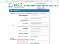Làm thế nào để đăng ký xét tuyển đợt 1 vào Đại học Quốc gia Hà Nội?