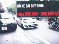 Từ ngày 1/8: Đỗ xe trên miệng cống thoát nước, phạt 800.000 đồng