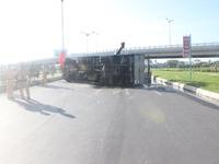 Lật xe tải gây ách tắc giao thông trên Quốc lộ 1A, đoạn qua Long An