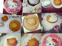 Cùng bé làm bánh gato Hello Kitty