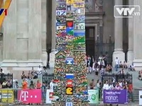 Hungary: Tháp Lego cao 34,76m lập kỷ lục thế giới