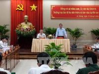 Đồng chí Lê Hồng Anh làm việc với Tỉnh ủy An Giang