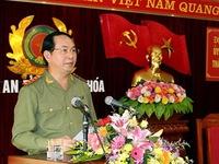 Bộ trưởng Trần Đại Quang làm việc tại Công an tỉnh Thanh Hóa