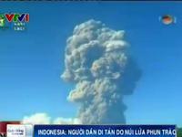 Núi lửa ở Indonesia phun trào, nhiều người phải sơ tán