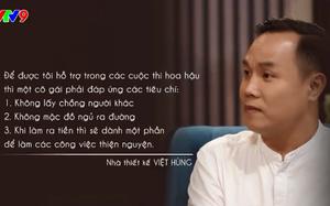 NTK Việt Hùng: Đào tạo Hoa hậu căng hơn mẹ chồng dạy nàng dâu