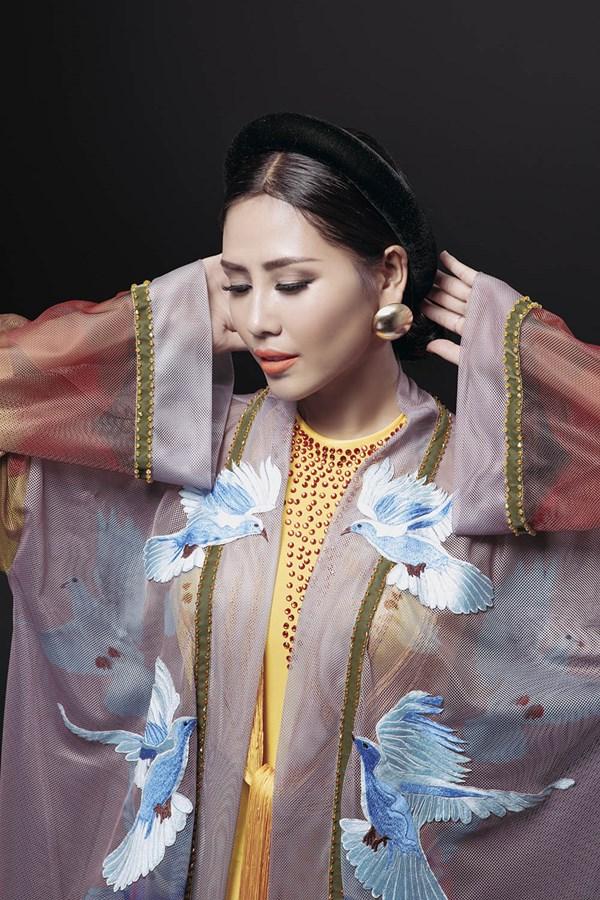 Ngây ngất với vẻ đẹp của Nguyễn Thị Loan trong tà áo tứ thân - Ảnh 5.