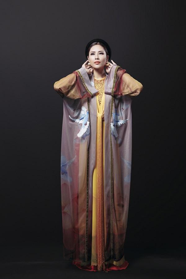 Ngây ngất với vẻ đẹp của Nguyễn Thị Loan trong tà áo tứ thân - Ảnh 4.