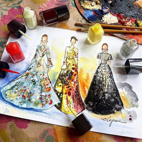 Mê mẩn những thiết kế thời trang long lanh từ sơn móng tay - Ảnh 13.