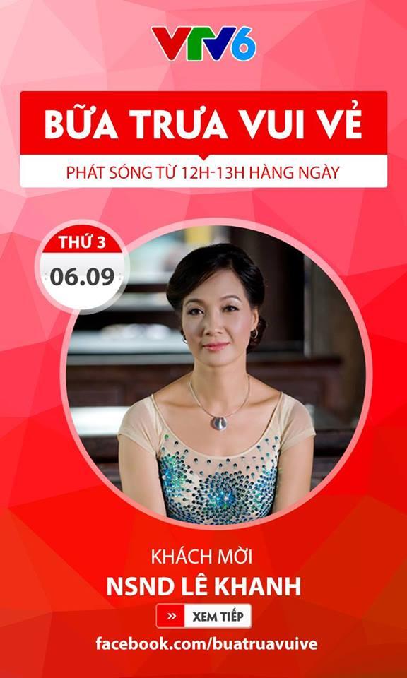NSND Lê Khanh khoe vẻ đẹp không tuổi trong Bữa trưa vui vẻ (12h, VTV6) - Ảnh 1.