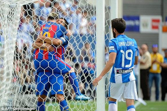 VIDEO, Leganes 1-5 Barcelona: Ấn tượng tam tấu MSN! - Ảnh 1.