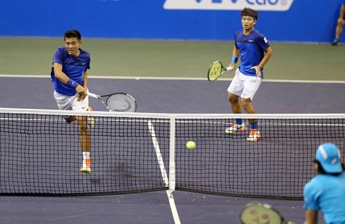 Cặp đôi Hoàng Nam - Hoàng Thiên vào vòng 2 Vietnam Open 2016 - Ảnh 1.
