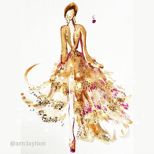 Mê mẩn những thiết kế thời trang long lanh từ sơn móng tay - Ảnh 15.