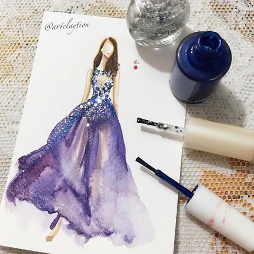 Mê mẩn những thiết kế thời trang long lanh từ sơn móng tay - Ảnh 3.