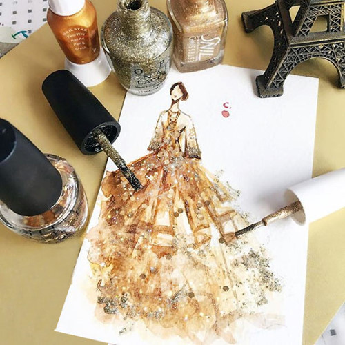 Mê mẩn những thiết kế thời trang long lanh từ sơn móng tay - Ảnh 4.