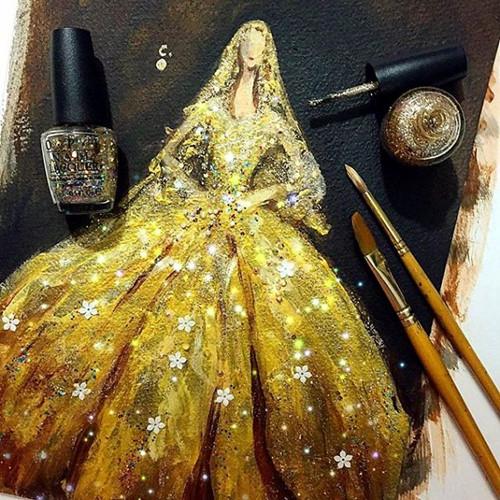 Mê mẩn những thiết kế thời trang long lanh từ sơn móng tay - Ảnh 5.