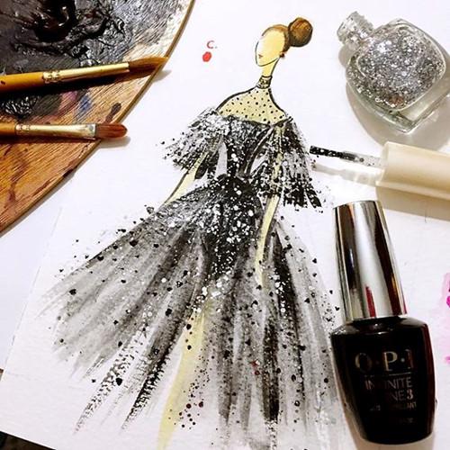 Mê mẩn những thiết kế thời trang long lanh từ sơn móng tay - Ảnh 6.