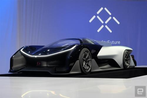 Nguyên mẫu xe điện Faraday Furture bất ngờ lộ diện trên phố - Ảnh 1.