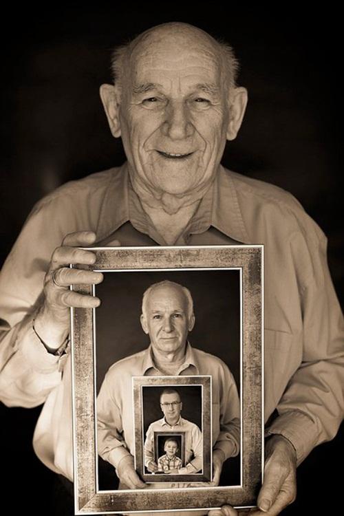 Gia đình nhiều thế hệ được thu bé lại vừa bằng một bức ảnh - Ảnh 2.