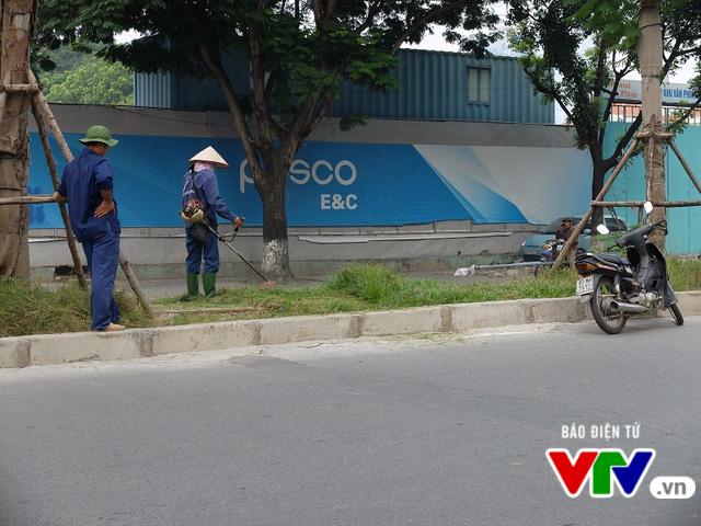 Sau 3 tháng tạm dừng, Hà Nội cắt cỏ trở lại - Ảnh 4.