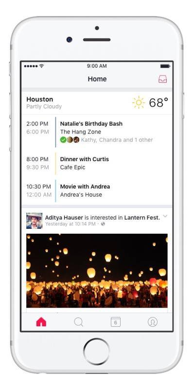 Facebook ra mắt ứng dụng nhắc nhở sự kiện Events trên iOS - Ảnh 2.